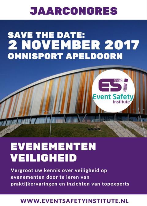 Jaarcongres Evenementenveiligheid 2 november in Apeldoorn